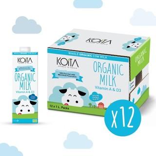 Koita Organic Whole Fat Milk (1L x 12)