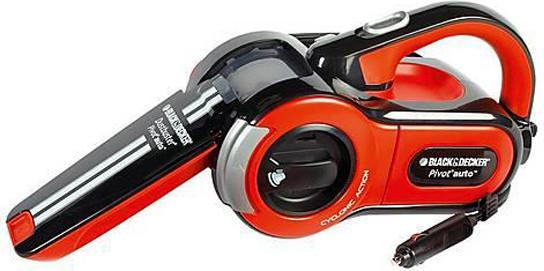 Black & Decker 12V Pivot Cyclonic Car Vaccum Cleaner, PAV1205-XJ