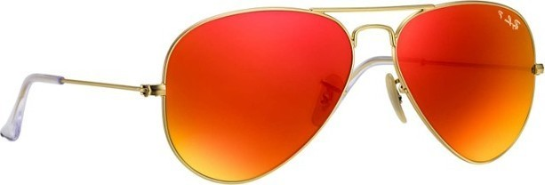 Ray ban Ray-Ban Aviator Flash Lenses Unisex Sunglasses Gold - RB3025-112 4D-58 699