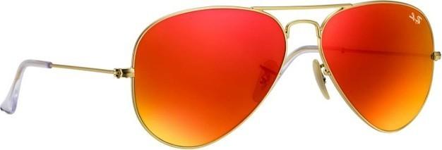Ray ban Ray-Ban Aviator Flash Lenses Unisex Sunglasses Gold - RB3025-112 69-58 489