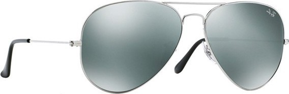 Ray ban Ray-Ban Aviator Mirror Unisex Sunglasses Silver - RB3025-003 40-62 489