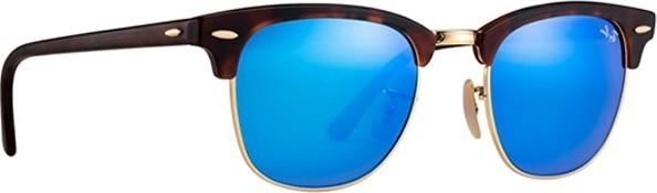 Ray ban Ray-Ban Clubmaster Flash Lenses Unisex Sunglasses Tortoise - RB3016-114517-51 489