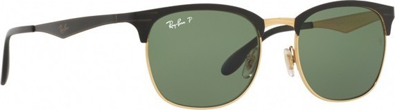 Ray Ban Clubmaster Unisex Sunglasses Black - RB3538-187 9A-53 539