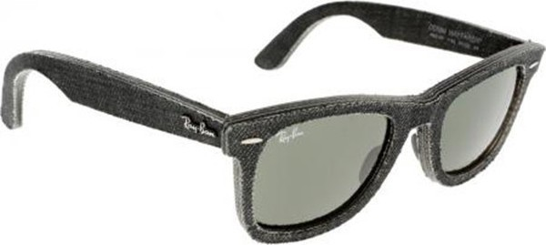 Ray ban Ray-Ban Wayfarer Unisex Sunglasses G-15 Lens Black Jeans Frame Green Classic - RB2140-1162-50 579
