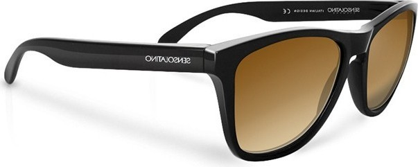 SensoLatino Unisex Wayfarer Black Frame Sunglasses Brown - SL-14 175