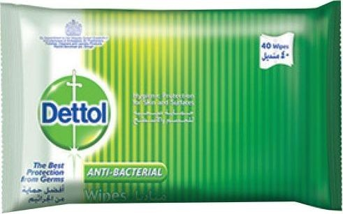 Dettol Antibacterial Wipes 40 Sheets