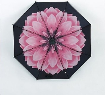 Rain where BIG Flower Umbrella - Pink