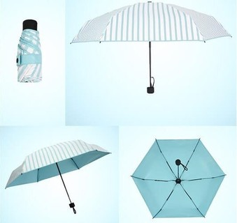 Light Weight Folding Umbrella - Blue