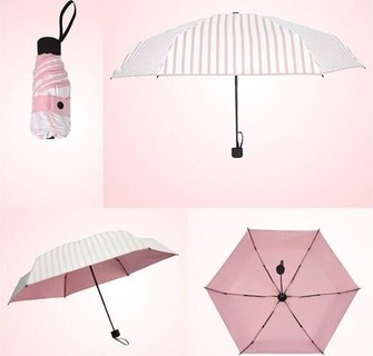 Light Weight Folding Umbrella - Pink