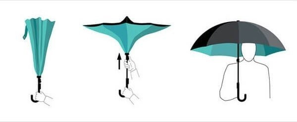 Maple Leaf Umbrella - Black
