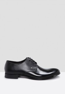 FABI Leather Formal Lace Up - Black