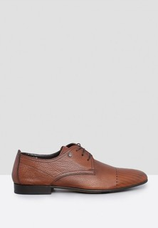 Mario Bruni Perforated Leather Formal Lace Up - Brown