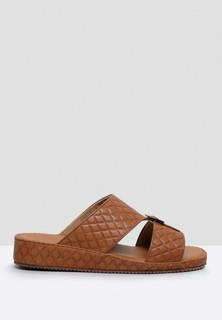 ChicShoes Quilted Dress Sandals - Brown