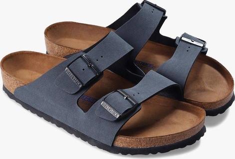 Birkenstock Men's Arizona Basalt Birko-Flor Sandals