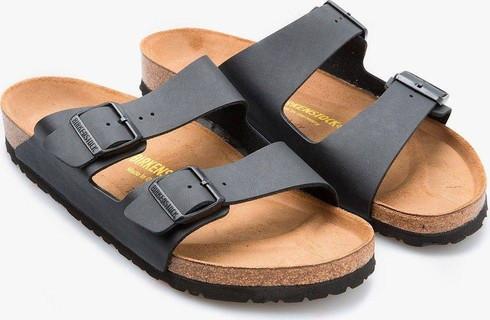 Birkenstock Men's Arizona Black Birko-Flor Sandals