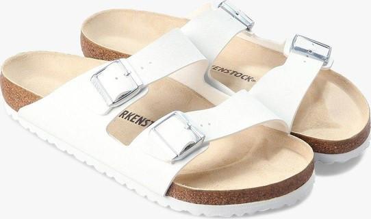 Birkenstock Men's Arizona White Birko-Flor Sandals
