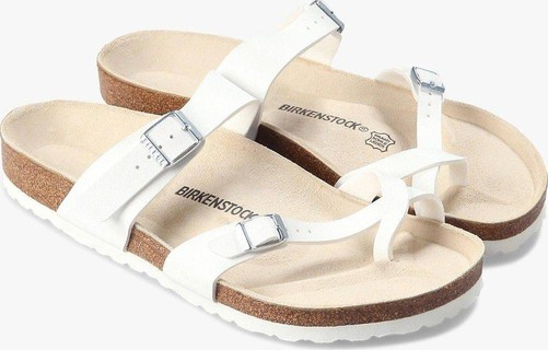 Birkenstock Men's Mayari White Birko-Flor Sandals
