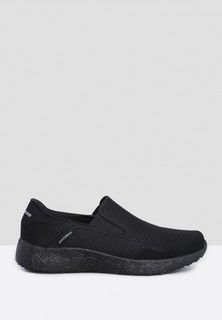 Skechers Burst Just In Time Slip Ons - Black