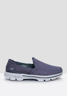 Skechers Go Walk 3 Slip Ons - Navy