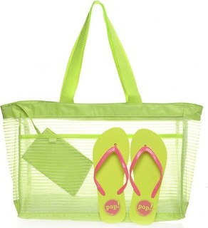 POP Trendy Bag & Slipper Set - Yellow Green