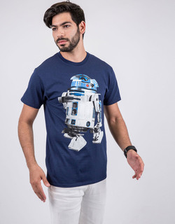 Star Wars Vertical Hold R2D2 Navy T-Shirt