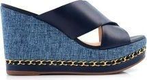 Chic Shoes Classy Platform Sandal For Women, Blue
