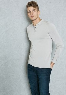 Selected Homme Placket Knitted Polo