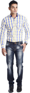 5EM JEANS 5EM JEANS Men Blue Narrow Fit Jeans