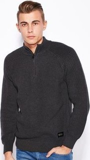Brave Soul Congo High Neck Zip Sweater