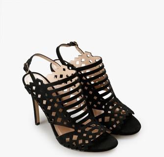 Mango Laser-Cut Design Sandals