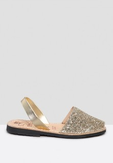 MIBO Glitter Sling Back Sandals - Gold