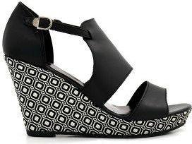 Tamaris Classy Black Color Leather Platform Sandal for Women WOR28030