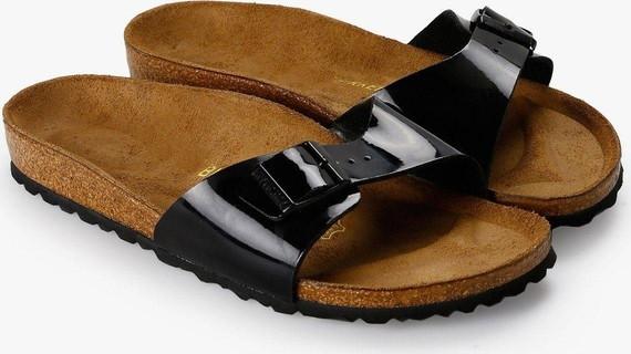 Birkenstock Women's Madrid Black Patent Birko-Flor Sandals