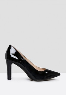 Caprice Patent Pointed Toe Pumps - Black
