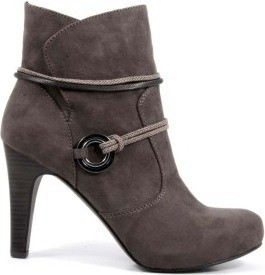 Tamaris Trendy Grey Color Leather Boots for Women WOR25372