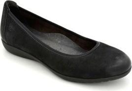 Tamaris Sturdy Black Color Leather Platform Shoes for Women WOR22112