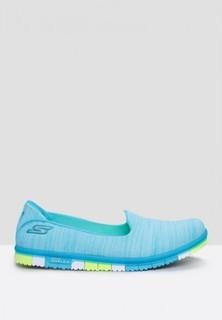 Skechers Go Mini Flex Comfort Shoes - Turquoise