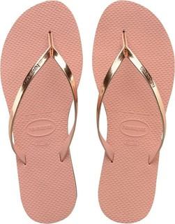 Havaianas Light Pink You Metallic Flip Flops