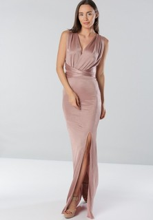 Tfnc LONDON Felpa Multiway Maxi Dress - Brown
