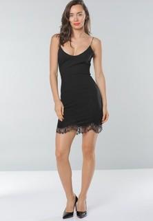 Tfnc LONDON Spaghetti Strap Party Dress - Black