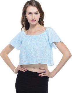 A Luv Ya A Luv Ya Women's Cotton Crepe Printed Crop Top