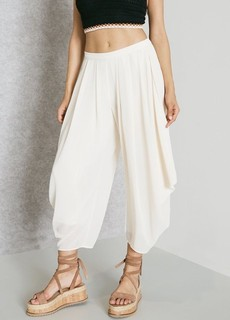 MANGO Flowy Cropped Pants