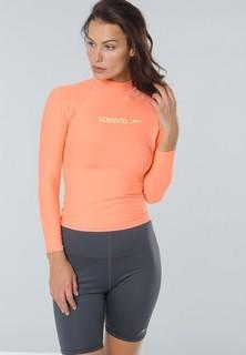 speedo Classic Long Sleeves Rashguard - Light Orange