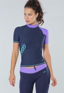 speedo Fashion Short Sleeves Rashguard - Navy