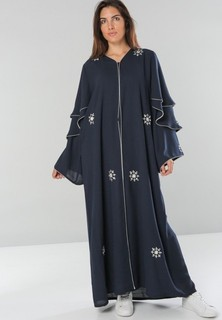 Dubai Abaya Wide Sleeves Abaya - Navy