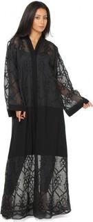 HAYA Perforated Abaya - Black
