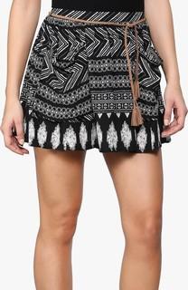 FOREVER 21 Aztec Printed Mini Skirt