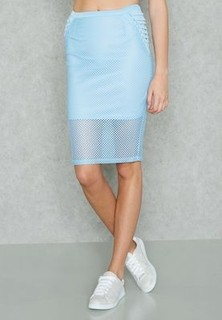 Forever 21 Lace Up Midi Skirt