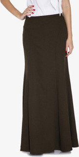 Seden Long Skirt, Dark Green
