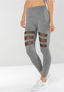 VS FASHION Mesh Detail Tights - Grey